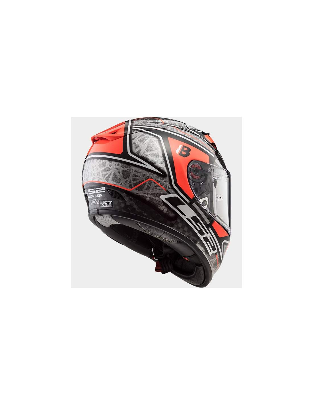 Gloss Carbon LS2 Casco Moto Ff323 Arrow C Evo L