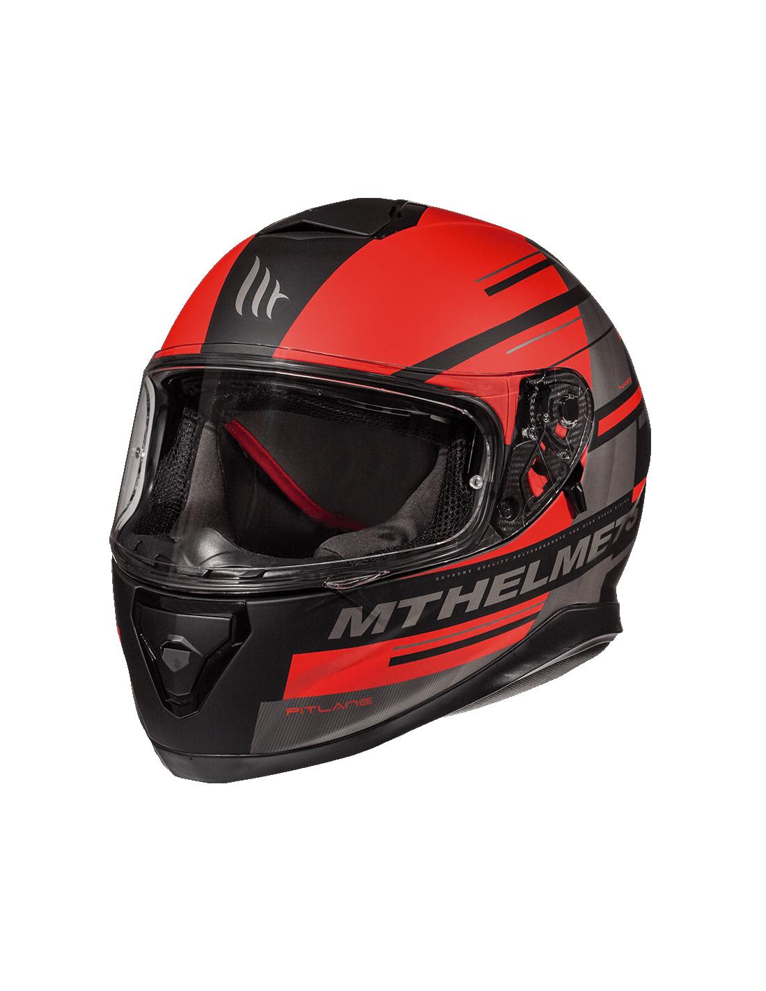 M Casco Mt Thunder 3 Pitlane C5 Rojo Mate